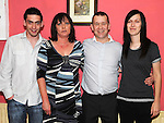 Kieran and Pauline Feehan celebrating their 25th wedding anniversary in the Grange Inn Grangebellew with son Ryan and daughter Melanie. Photo: Colin Bell/pressphotos.ie