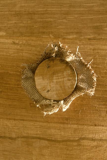 Bung of wine barrel
