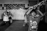 Three years after the beginning of the association, in 2005, more and more children attend the dance lessons. Phnom Penh, Cambodia - 2005