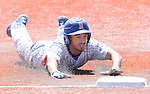 Reno's Nick Clayton is safe at third in the NIAA Division I Northern Region Baseball Championship between the Galena Grizzlies and the Reno Huskies played on Saturday, May 14, 2016 at Peccole Park in Reno, Nevada.