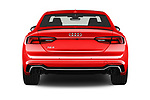 Straight rear view of a 2018 Audi RS5 4WD 2 Door Coupe stock images