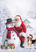 Sharon, CHRISTMAS SANTA, SNOWMAN, WEIHNACHTSMÄNNER, SCHNEEMÄNNER, PAPÁ NOEL, MUÑECOS DE NIEVE, GBSS,dog, paintings+++++,GBSSC50XTS2,#X#