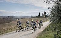 Team Orica-Scott during their 2017 Strade Bianche recon