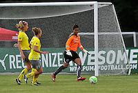 Allison Falk, Nikki Krzysik, Karina LeBlanc,..Saint Louis Athletica defeated Philadelphia Independence 2-1 at Anheuser-Busch Soccer Park, Fenton, MO.