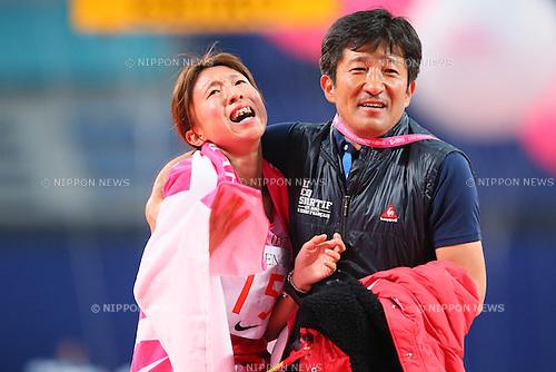 (L to R) .Ryoko Kizaki (JPN), . Kiyoshi Hayashi, .MARCH 10, 2013 - Marathon : .Nagoya Women's Marathon 2013 .in Aichi, Japan. .(Photo by YUTAKA/AFLO SPORT) [1040]