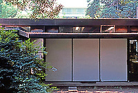 Rudolph Schindler: Schindler House--connection of Chase and Schindler wings from garden.