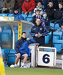 Kenny Shiels takes up his place in the stand