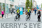 Garda Eoghan Walsh and Garda Niall O'Connor on Bike patrol in Tralee on Monday