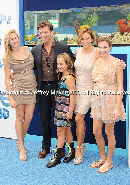"WESTWOOD, CA - SEPTEMBER 17: Harry Connick Jr., Jill Goodacre and family attend the ""Dolphin Tale"" Los Angeles Premiere at Mann Village Theatre on September 17, 2011 in Westwood, California."