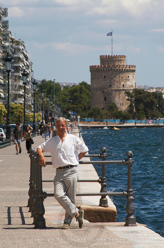 The waterfront. The White Tower. Thessaloniki, Macedonia, Greece