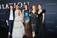 Tuva Novotny, Tessa Thompson, Gina Rodriguez, Jennifer Jason Leigh &amp; Natalie Portman at the premiere for &quot;Annihilation&quot; at the Regency Village Theatre, Los Angeles, USA 13 Feb. 2018<br /> Picture: Paul Smith/Featureflash/SilverHub 0208 004 5359 sales@silverhubmedia.com