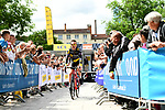 Thomas Voeckler (FRA) Direct Energie at sign on before the start of Stage 2 of the Criterium du Dauphine 2017, running 171km from Saint-Chamond to Arlanc, France. 5th June 2017. <br /> Picture: ASO/A.Broadway | Cyclefile<br /> <br /> <br /> All photos usage must carry mandatory copyright credit (&copy; Cyclefile | ASO/A.Broadway)