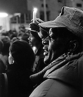 (021208-SWR01.jpg) New York, NY December 1988 0--Thousands of Homeless and Homeless Advocates gathered for a candlelight vigil outside the Plaza Hotel to highlight the descrepancy between rich and poor.