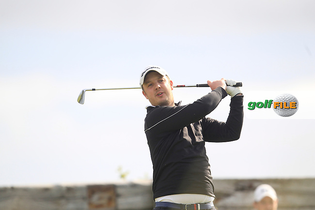 John Turner (Royal Portrush) on the 6th tee during Round 2 of the North of Ireland Amateur Open Championship at Royal Portrush, Valley Corse on Tuesday 14th July 2015.<br /> Picture:  Thos Caffrey / www.golffile.ie