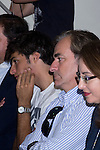 11.10.2012. The racecar driver, Maria de Villota Comba,  gives a press conference after acccidente in CSD (Sports Council) in Madrid, Spain, accompanied by his family, friends and colleagues. In the image Carlos Sainz and Carlos Sainz Jr. (Alterphotos/Marta Gonzalez)