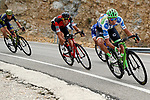 Part of the breakaway group Polka Dot jersey Davide Villella (ITA) Cannondale Drapac, Julian Alaphilippe (FRA) Quick-Step Floors, Alessandro De Marchi (ITA) BMC and Magnus Cort Nielsen (DEN) Orica-Scott in action during Stage 17 of the 2017 La Vuelta, running 180.5km from Villadiego to Los Machucos. Monumento Vaca Pasiega, Spain. 6th September 2017.<br /> Picture: Unipublic/&copy;photogomezsport   Cyclefile<br /> <br /> <br /> All photos usage must carry mandatory copyright credit (&copy; Cyclefile   Unipublic/&copy;photogomezsport)