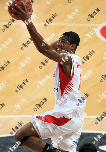 2010-10-05 / Basketbal / seizoen 2010-2011 / Euro Challenge / Antwerp Giants - Minsk / Darnell Wilson..Foto: Mpics