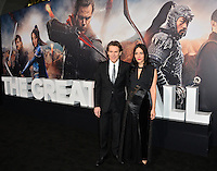 Willem Dafoe &amp; Giada Colagrande at the premiere for &quot;The Great Wall&quot; at the TCL Chinese Theatre, Hollywood, Los Angeles, USA 15 February  2017<br /> Picture: Paul Smith/Featureflash/SilverHub 0208 004 5359 sales@silverhubmedia.com