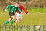 No way out: Camp Juniors v Fenit'in their U-16 cup tie.played in Camp on Saturday morning.