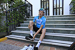 Tao Geoghegan Hart (GBR) Team Sky gets ready for a morning training ride before Stage 1 of the La Vuelta 2018, an individual time trial of 8km running around Malaga city centre. Mijas, Spain. 23rd August 2018.<br /> Picture: Eoin Clarke | Cyclefile<br /> <br /> <br /> All photos usage must carry mandatory copyright credit (&copy; Cyclefile | Eoin Clarke)