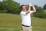 ISPS Handa Wales Open 2012.Welsh opera singer Bryn Terfel teeing off on the 1st hole in the Pro-Am tournament..30.05.12.©Steve Pope