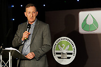 Pictured: Chairman Huw Jenkins gives a speech. Wednesday 02 May 2018<br /> Re: Swansea City AFC Official Player Of The Season Awards Dinner 2018 at the Liberty Stadium, Wales, UK.
