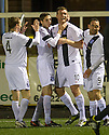 Ayr Utd's Kevin Kyle (10) celebrates after he scores the winning goal.
