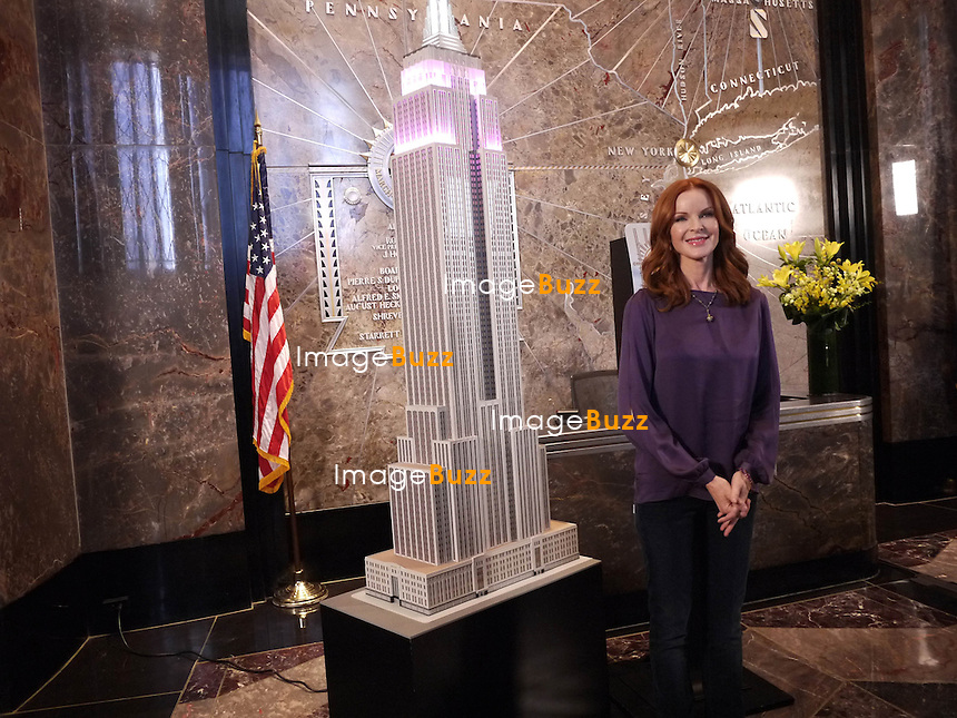 Marcia Cross promotes International Day of the Girl at the Empire State Building..New York City, October 10, 2012...
