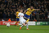 Stefano Sturaro of Juventus with a second half shot<br /> <br /> Photographer Rob Newell/CameraSport<br /> <br /> UEFA Champions League Round of 16 Second Leg - Tottenham Hotspur v Juventus - Wednesday 7th March 2018 - Wembley Stadium - London <br />  <br /> World Copyright &copy; 2017 CameraSport. All rights reserved. 43 Linden Ave. Countesthorpe. Leicester. England. LE8 5PG - Tel: +44 (0) 116 277 4147 - admin@camerasport.com - www.camerasport.com