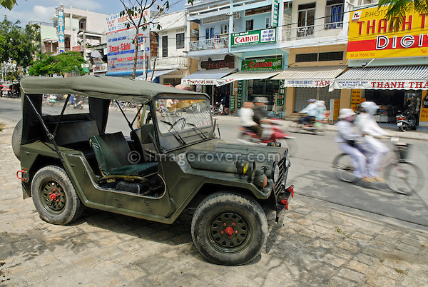 Asia, Vietnam, Nha Trang. Ex army Ford MUTT M151 4x4. The M151 MUTT (Military Utility Tactical Truck) was produced from 1959 through 1982 and served extensively in the Vietnam War.