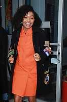 NEW YORK, NY - FEBRUARY 6: Yara Shahidi seen after an appearance on Build Series promoting her new Freeform series Grown-ish in New York City on February 6, 2018. Credit: RW/MediaPunch