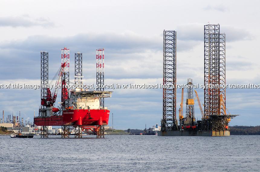 Drilling Platforms, Halifax Harbour