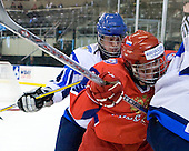Iiro Pakarinen (Finland - 10), Stanislav Kalashnikov (Russia - 4) - Russia defeated Finland 4-0 at the Urban Plains Center in Fargo, North Dakota, on Friday, April 17, 2009, in their semi-final match during the 2009 World Under 18 Championship.