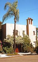 Irving Gill:  Alice Lee House #4, 1912. 3367 Albatross St., San Diego. Photo 1978