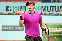 Croatian Borna Coric during Mutua Madrid Open Tennis 2017 at Caja Magica in Madrid, May 10, 2017. Spain.<br /> (ALTERPHOTOS/BorjaB.Hojas) /NortePhoto.com **NortePhoto.com