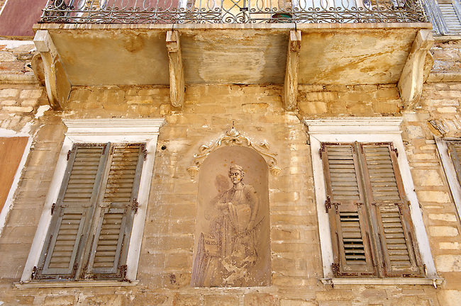 Freso and house of  Ermoupolis, Syros [ ????? ] , Greek Cyclades Islands