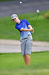 Kal Kolar of the Gateway PGA Golf Course chips onto the green on the first day of the Metropolitan Amateur Golf Association's 20th Junior Amateur Championship being held at the St. Clair Country Club in Belleville, IL on July 1, 2019. <br /> Tim Vizer/Special to STLhighschoolsports.com