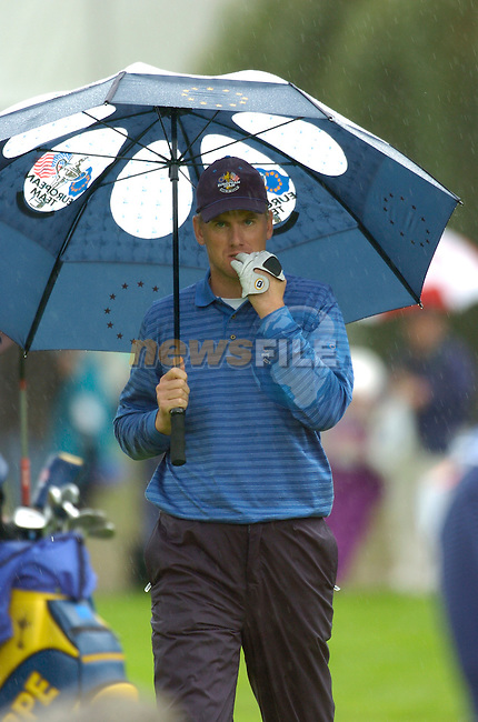 Ryder Cup K Club Straffin Co Kildare..European Ryder Cup Team player Robert Karlsson on the 16th fairway during the morning fourball session of the second day of the 2006 Ryder Cup at the K Club in Straffan, County Kildare, in the Republic of Ireland, 23 September, 2006..Photo: Barry Cronin/ Newsfile.