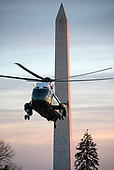 Marine One, with United States President Donald J. Trump aboard, returns to the White House in Washington, DC following a trip to Kansas City, Missouri where the President delivered remarks at the 2018 Project Safe Neighborhoods National Conference on Friday, December 7, 2018.  <br /> Credit: Ron Sachs / CNP<br /> (RESTRICTION: NO New York or New Jersey Newspapers or newspapers within a 75 mile radius of New York City)