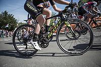 Jenelle Crooks (AUS/Mitchelton Scott) Mur de Huy.<br /> <br /> <br /> 21st La Flèche Wallonne Femmes <br /> 1 day race: Huy - Huy (118,5KM)