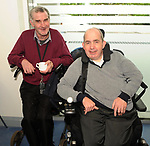 Jerry Sheehan and Bernard James at the opening of the Irish Wheelchair Association new Community Centre at The Reeks Gateway, Killarney on Friday.   Picture: macmonagle.com