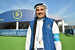 H.E. Saeed Hareb at sign on before the start of Stage 2 The  Ras Al Khaimah Stage of the Dubai Tour 2018 the Dubai Tour&rsquo;s 5th edition, running 190km from Skydive Dubai to Ras Al Khaimah, Dubai, United Arab Emirates. 7th February 2018.<br /> Picture: LaPresse/Massimo Paolone | Cyclefile<br /> <br /> <br /> All photos usage must carry mandatory copyright credit (&copy; Cyclefile | LaPresse/Massimo Paolone)