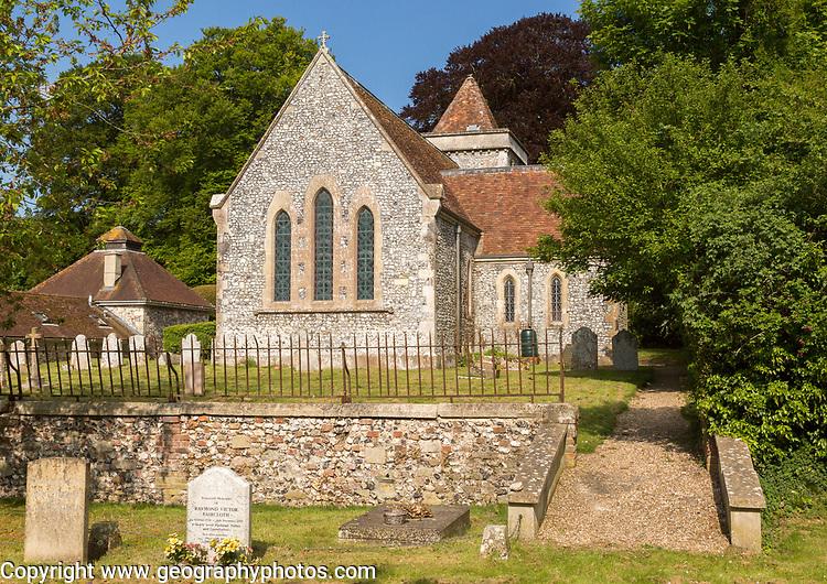 Village parish church of Saint Michael, Wilsford cum Lake, Wiltshire, England, UK
