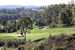 Hilly golf course in Branson Missouri during the Fall season