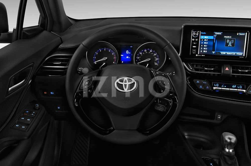 Car pictures of steering wheel view of a 2018 Toyota C-HR XLE-Premium 5 Door SUV Steering Wheel