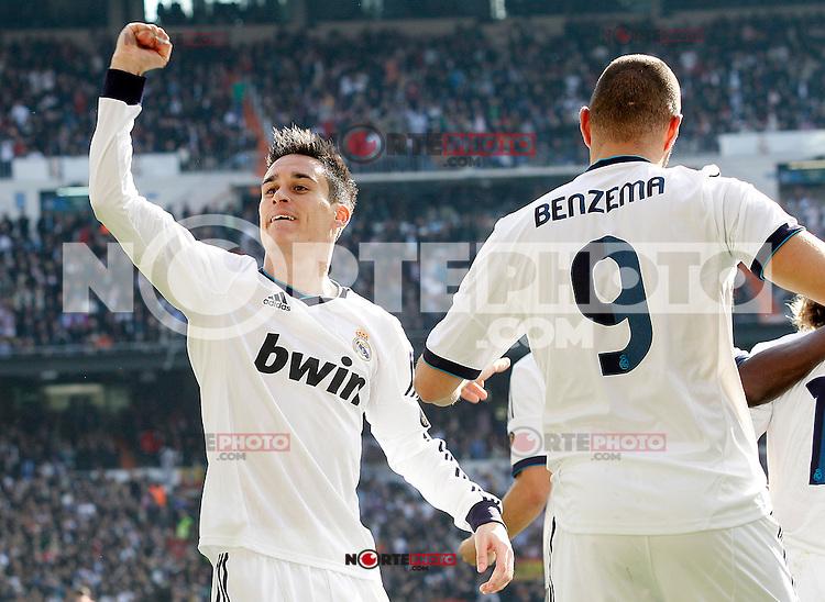 Real Madrid's Jose Maria Callejon celebrates goal during La Liga match.March 02,2013. (ALTERPHOTOS/Acero) /NortePhoto