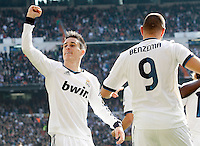 Real Madrid's Jose Maria Callejon celebrates goal during La Liga match.March 02,2013. (ALTERPHOTOS/Acero) /NortePhoto