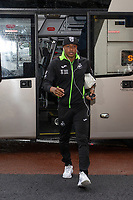 Andre Ayew of Swansea City arrives for the Sky Bet Championship match between Swansea City and Millwall at the Liberty Stadium in Swansea, Wales, UK. Saturday 23rd November 2019