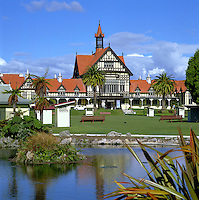 New Zealand, North Island, Rotorua: Bath House & Government Gardens | Neuseeland, Nordinsel, Rotorua: Bath House und Government Gardens