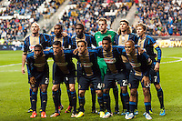 Philadelphia Union starting XI. The Houston Dynamo defeated the Philadelphia Union 1-0 during a Major League Soccer (MLS) match at PPL Park in Chester, PA, on September 14, 2013.